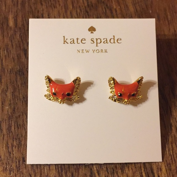 adc03e7f6ac9b 🌻 Kate Spade Into the Woods Fox Earrings